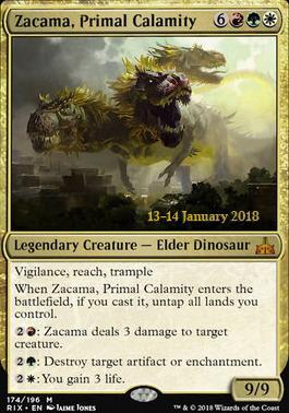 Promotional: Zacama, Primal Calamity (Prerelease Foil)