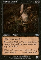 Prophecy Foil: Wall of Vipers