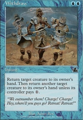Prophecy Foil: Withdraw