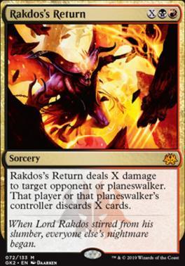 Ravnica Allegiance: Guild Kits: Rakdos's Return