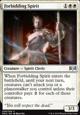 Forbidding Spirit Ravnica Allegiance Foil Standard Card Kingdom That's the orzhov syndicate in a nutshell. card kingdom