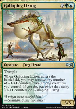 Ravnica Allegiance: Galloping Lizrog
