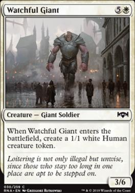 Ravnica Allegiance Foil: Watchful Giant