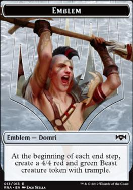 Ravnica Allegiance: Emblem (Domri)