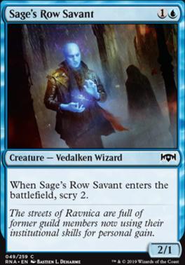 Ravnica Allegiance Foil: Sage's Row Savant