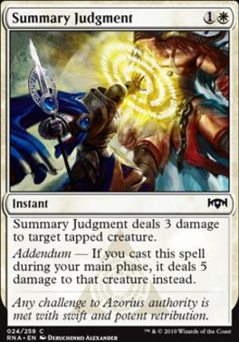 Ravnica Allegiance Foil: Summary Judgment