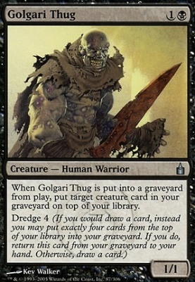 MTG magic 1x Golgari Thug M//NM Ultimate Masters