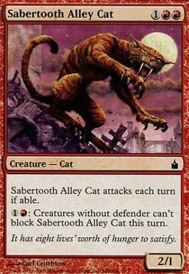 Ravnica Foil: Sabertooth Alley Cat