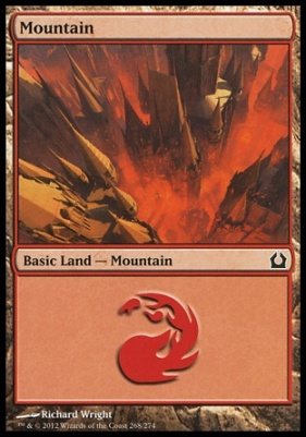 Return to Ravnica Foil: Mountain (268 D)