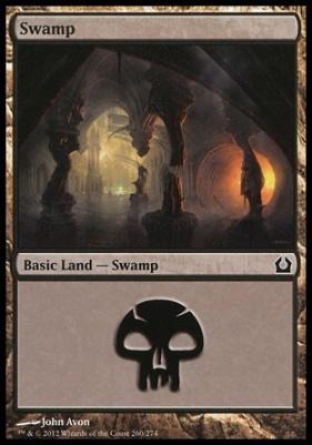 Return to Ravnica Foil: Swamp (260 A)