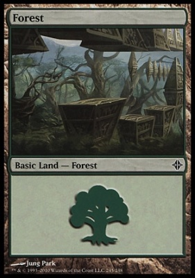 Rise of the Eldrazi: Forest (245 A)