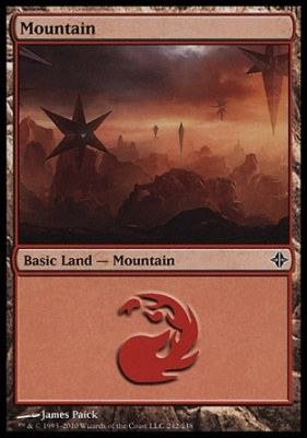 Rise of the Eldrazi: Mountain (242 B)