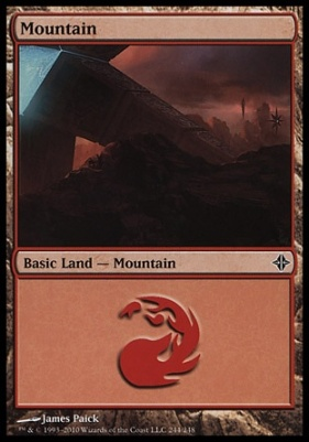 Rise of the Eldrazi: Mountain (244 D)