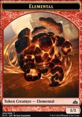 Rivals of Ixalan: Elemental Token (002 B)