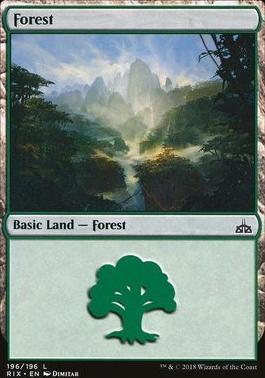 Rivals of Ixalan: Forest (196 A)