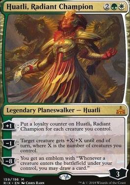 Rivals of Ixalan: Huatli, Radiant Champion