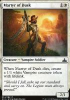 Rivals of Ixalan Foil: Martyr of Dusk