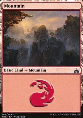 Rivals of Ixalan: Mountain (195 A)