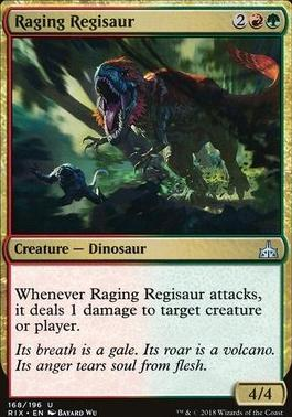Rivals of Ixalan Foil: Raging Regisaur