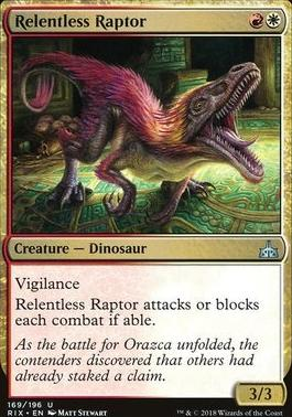 Rivals of Ixalan Foil: Relentless Raptor