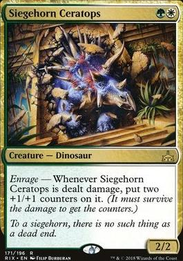 Rivals of Ixalan Foil: Siegehorn Ceratops