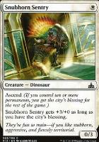 Rivals of Ixalan Foil: Snubhorn Sentry