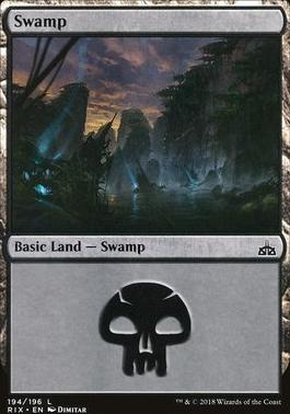 Rivals of Ixalan: Swamp (194 A)