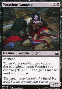 Rivals of Ixalan Foil: Voracious Vampire