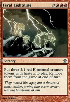 Saviors of Kamigawa Foil: Feral Lightning