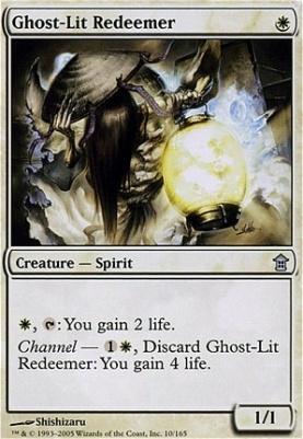 Saviors of Kamigawa Foil: Ghost-Lit Redeemer