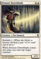 Saviors of Kamigawa: Kitsune Dawnblade