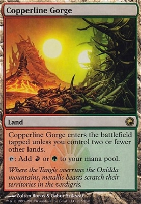 Scars of Mirrodin: Copperline Gorge