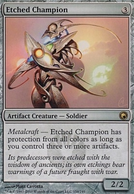 Scars of Mirrodin Foil: Etched Champion