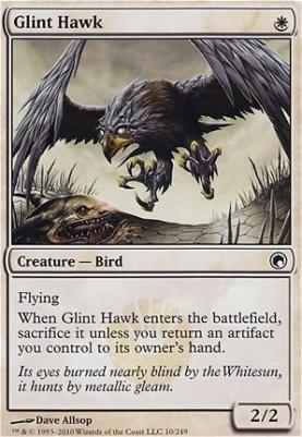 Scars of Mirrodin Foil: Glint Hawk