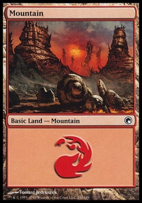Scars of Mirrodin: Mountain (242 A)