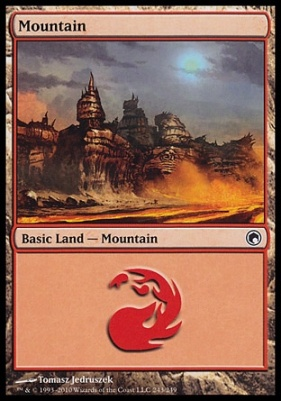 Scars of Mirrodin: Mountain (243 B)