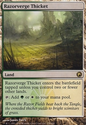 Scars of Mirrodin: Razorverge Thicket
