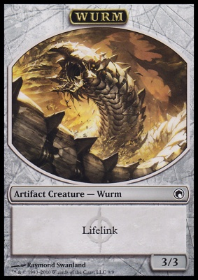 Scars of Mirrodin: Wurm Token (Lifelink)