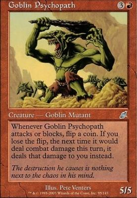 Scourge Foil: Goblin Psychopath