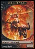 Shadowmoor: Elemental Token (Black/Red)