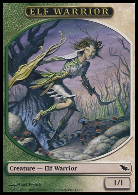 Shadowmoor: Elf Warrior Token (Green/White)
