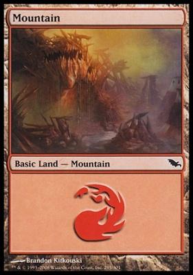 Shadowmoor: Mountain (295 B)