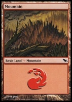 Shadowmoor Foil: Mountain (296 C)