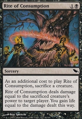 Shadowmoor Foil: Rite of Consumption