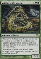 Shadowmoor Foil: Witherscale Wurm