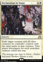 Shadows Over Innistrad Foil: Declaration in Stone