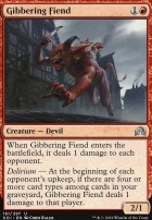Shadows Over Innistrad Foil: Gibbering Fiend