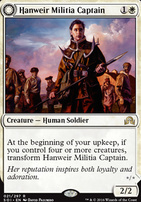 Shadows Over Innistrad Foil: Hanweir Militia Captain