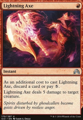 Shadows Over Innistrad Foil: Lightning Axe