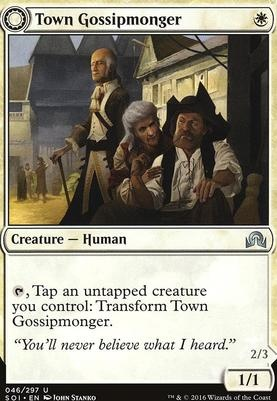Shadows Over Innistrad Foil: Town Gossipmonger